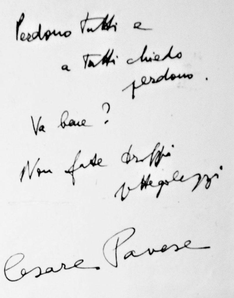 Cesare Pavese addio