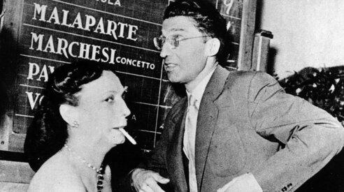 Cesare Pavese con Maria Bellonci
